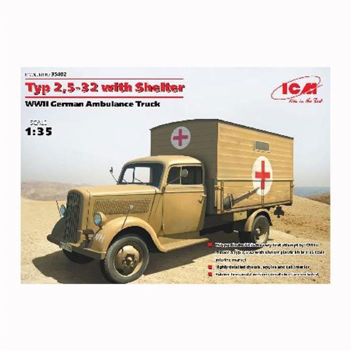 maquette camion ambulance arm e allemande 2 me achat vente voiture construire cdiscount. Black Bedroom Furniture Sets. Home Design Ideas