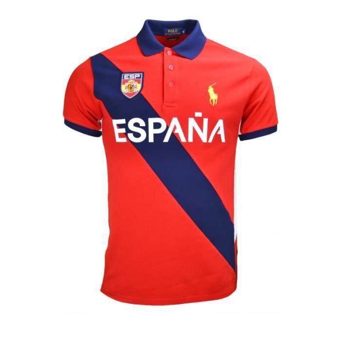 31d47a838b18b Polo Ralph Lauren Espagne JO 2016 pour homme Rouge Rouge - Achat ...