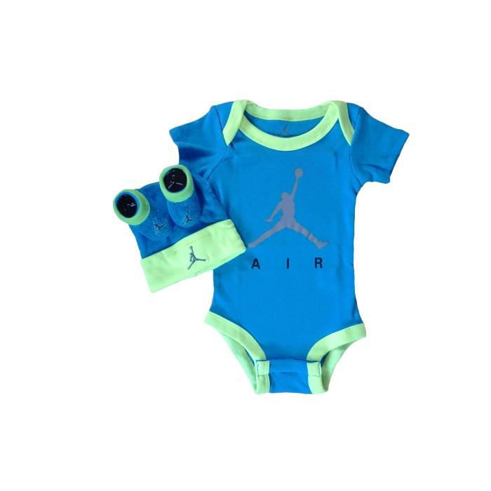 7271cdb867a03 Set Nike Jordan bébé bleu - Achat   Vente coffret cadeau textile ...