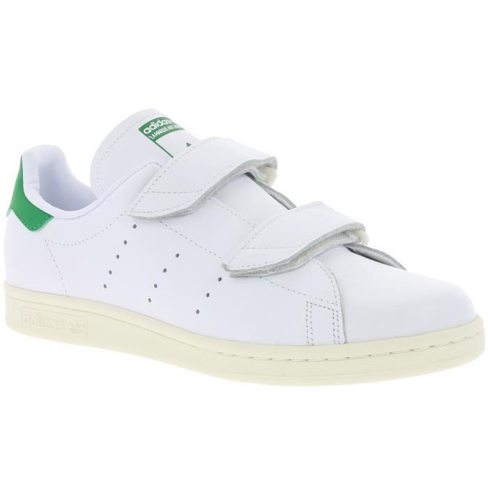 adidas Originals Fast Blanc réel de baskets en cuir pour hommes S76662