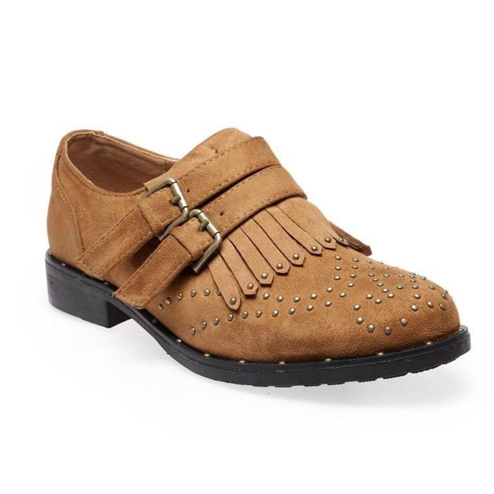 La Modeuse - Chaussures de ville type Richelieu en suédine