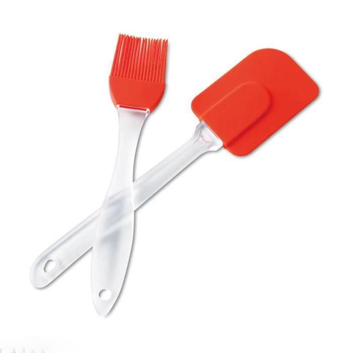 PINCEAU DE CUISINE Grande spatule en silicone et pinceau silicone