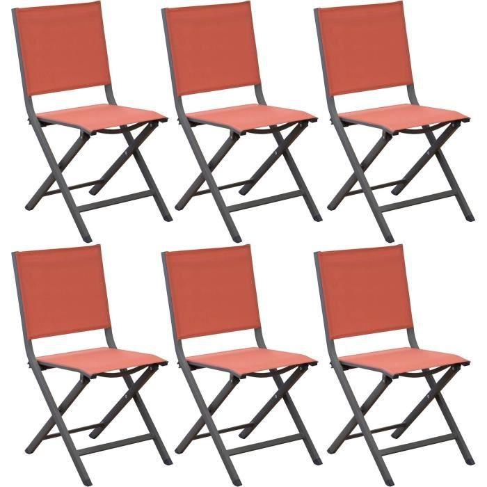 Chaise de jardin pliante Thema - café / paprika - PROLOISIRS - Achat ...