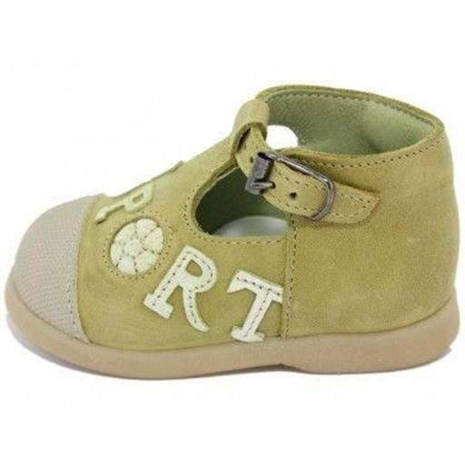 sandales / nu pieds little mary - chaussures cuir sportif filles little mary h52lm002 21 Jaune