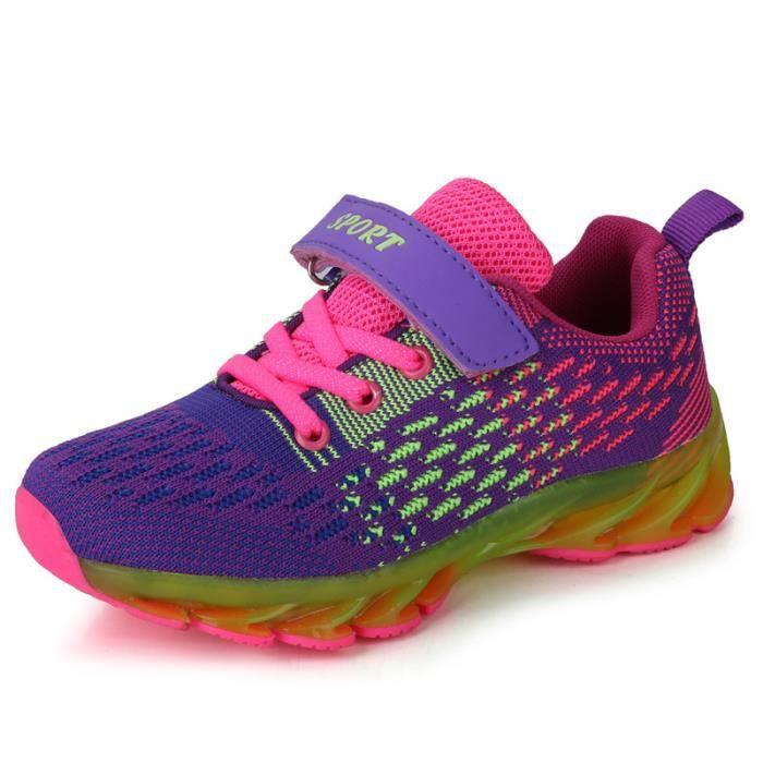 Basket enfantchaussures Lesgarçons et filles occasionnels chaussures de sport chaussures de course -ROUGE 9ushT