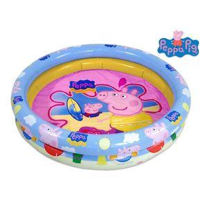 pataugeoire peppa pig piscine gonflable 90x32 - Jeux De Peppa Pig A La Piscine