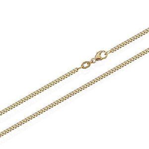SAUTOIR ET COLLIER 750 Curb en or jaune solide chaîne Collier 5885, 4 cb0141146ba2