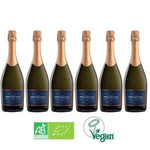 PÉTILLANT & MOUSSEUX Lot de 6 prosecco Extra Dry Bio et Vegan
