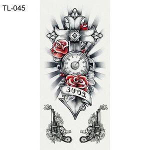 TATOO - BIJOU DE CORPS 5 feuilles imperméable tatouage temporaire loup ou