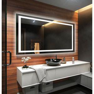 MIROIR SALLE DE BAIN ARTFORMA L15 120x100cm Illumination LED miroir sur