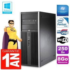 UNITÉ CENTRALE + ÉCRAN PC Tour HP Compaq 8200 Intel G630 Ram 8Go Disque 2