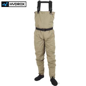WADERS - COMBI PÊCHE WADERS HYDROX FIRST STOCKING OLIVE CLAIR Modèle: L