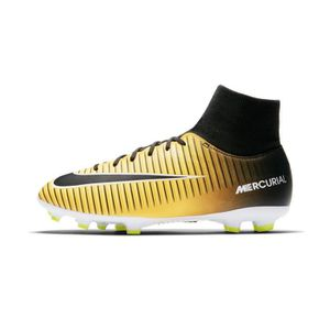 check out c6a47 2ebec Chaussures football Nike Mercurial Victory VI DF FG Orange-Noir Junior