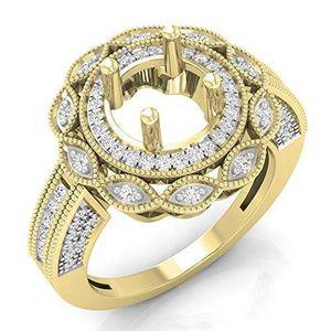 BAGUE - ANNEAU Bague Femme Diamants 0.60 ct  18 ct 750-1000 Or Ja