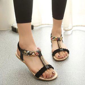 SANDALE - NU-PIEDS Sandales élastique Bracelet Chaussures Chaussures