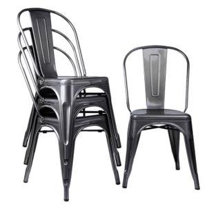 CHAISE Lot de 4 chaises de salle à manger Chaise dinante