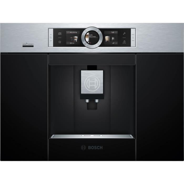 BOSCH CTL636ES6 Machine à café HomeConnect - Réservoir 2.4L - Prépare 2 tasses simultanément - Inox
