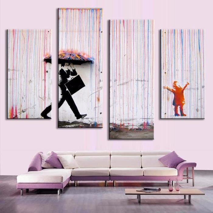 La Peinture  LHuile Modernes De Banksy Art Color Sans Photos