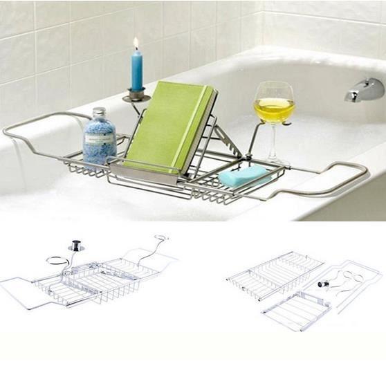 pont de baignoire pour ipad telephone livre vin chrom. Black Bedroom Furniture Sets. Home Design Ideas