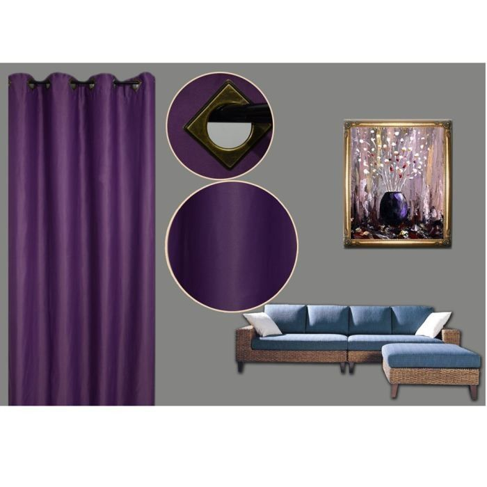 top rideau rideau occultant violet xcm with ikea rideau occultant. Black Bedroom Furniture Sets. Home Design Ideas
