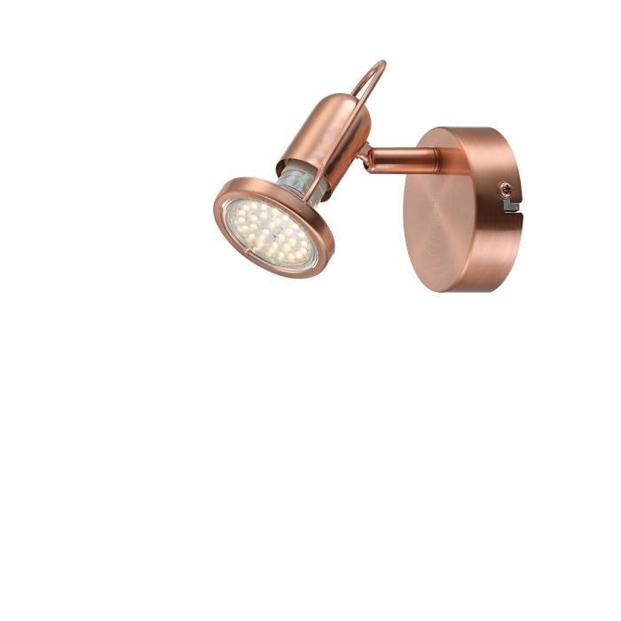 SPOTS - LIGNE DE SPOTS GLOBO LIGHTING Spot LED cuivre mat - L 8 x l 11,5