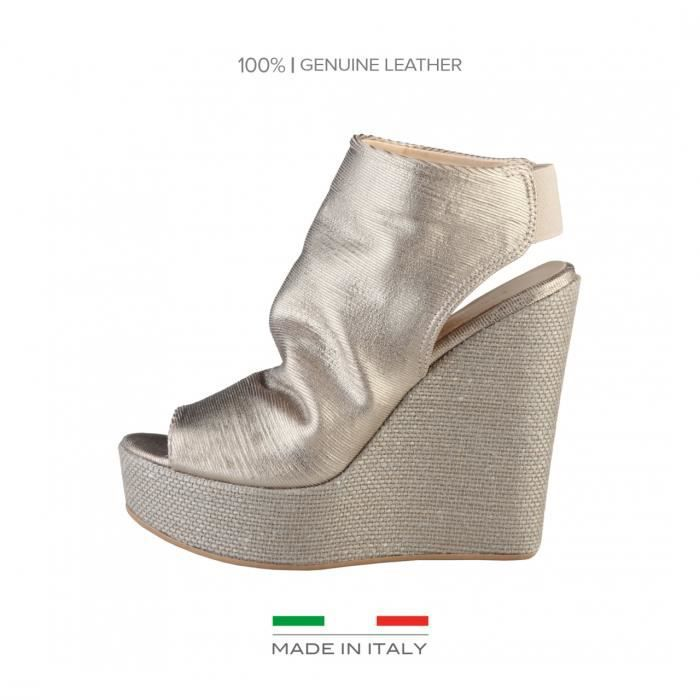 chaussure compensée Made in Italia