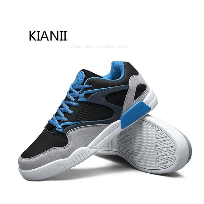 Homme Bleu Léger Respirant Baskets Chaussure sdhrQCt