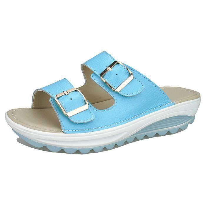 SHELOVEIT? Des sandales Femmes Décontractée Confortable Plate-forme Talon Plage hNR62dAF