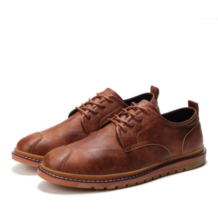DERBY Derby Hommes Chaussures en Cuir Marron