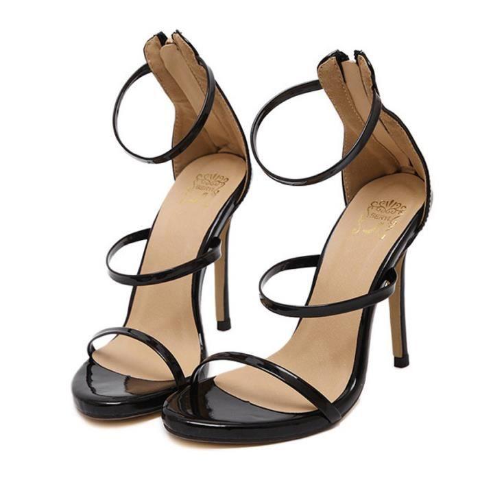 Les femmes à talons hauts sandales À bout ouvert talons hauts Sexy hauts talons Taille 35-40