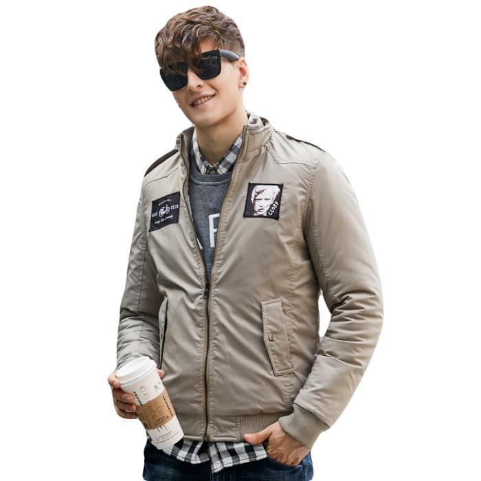 Et Vêtement Slim Hiver Masculin Epaississant Parka Imprimé Manteau De Mode Homme BEW8wRnqxX