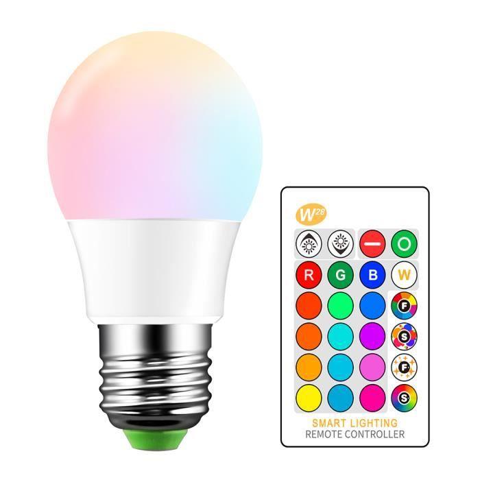 PROJECTEUR - LAMPE 5W Ampoule LED RGB E27 Lampe d'éclairage d'ambianc