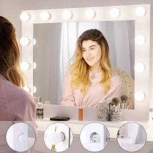 elegant miroir miroir vanit de maquillage de hollywood avec plus with miroir coiffeuse lumineux ikea. Black Bedroom Furniture Sets. Home Design Ideas
