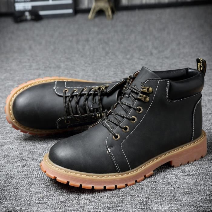 Chemisettes Bottes Tooling Automne Casual Suede hiver neige botte en cuir Martin Zapatos Mujer Big Size 38-47