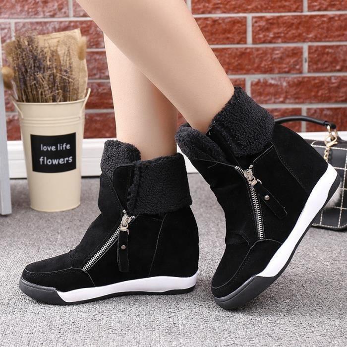 Les nouvelles bottes de cheville chaudes femmes fourrure de mode femmes bottes bottes de neige et les femmes automne hiver