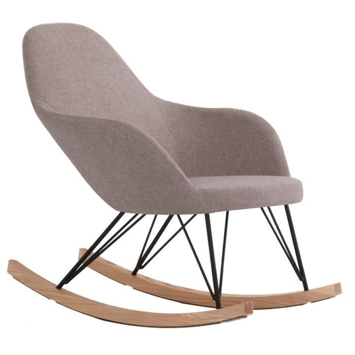 Rocking chair malibu taupe achat vente fauteuil beige - Fauteuil rocking chair design ...