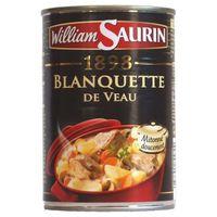 PLAT A BASE DE VIANDE lot 12 blanquettes de veau 400 gr william saurin n