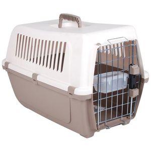 VISION Panier de transport 53,5x34x37 cm - Beige et taupe - Pour chien