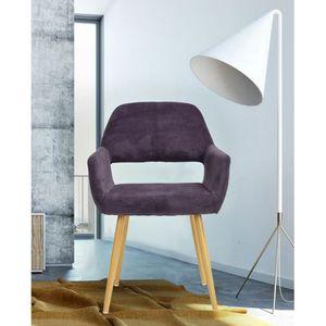 fauteuil violet achat vente fauteuil violet pas cher cdiscount. Black Bedroom Furniture Sets. Home Design Ideas
