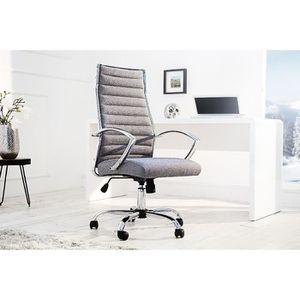 CHAISE DE BUREAU Chaise de bureau design Dilo - tissu gris   A l'un