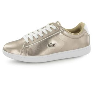 a38baa502d411 Lacoste Carnaby Evo 316 or, baskets mode femme Or - Achat   Vente ...