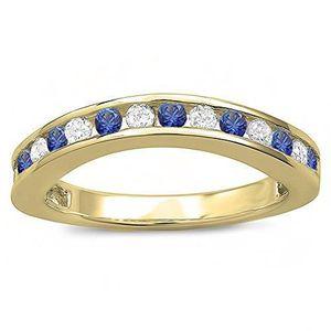 BAGUE - ANNEAU Bague Femme 18 ct 750-1000 Or Jaune Diamants Und B
