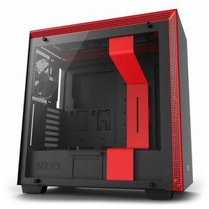 BOITIER PC  NZXT Boîtier PC H700 Noir/Rouge (CA-H700B-BR)
