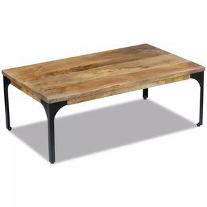 TABLE BASSE Table basse Console Bois de manguier 100 x 60 x 35