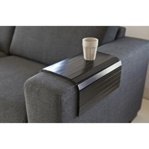 PLATEAU DE TABLE Plateau flexible en chene coloris noir, 36 x 45 cm