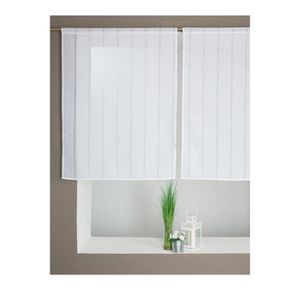 Voilage pas cher blanc interesting schn voilage moderne pour salon sur mesure pas cher gris - Voilage vitrage sur mesure ...