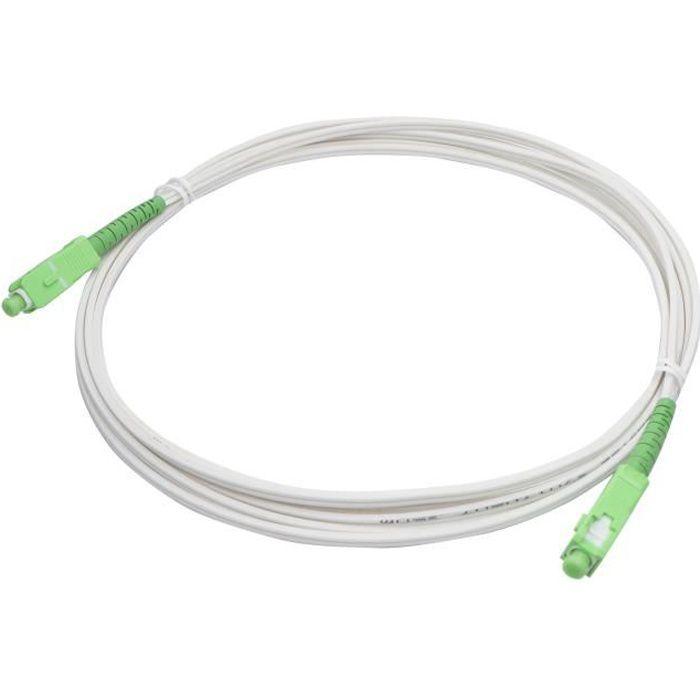 Câble fibre optique pour Livebox, SFR box et Bbox 2m00