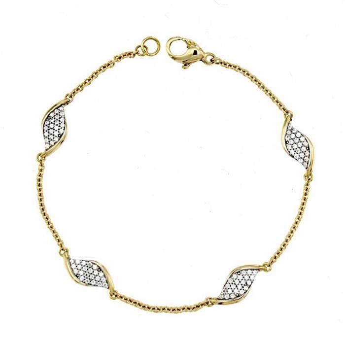 Bracelet 18k zirconites bicolor [AA1861]