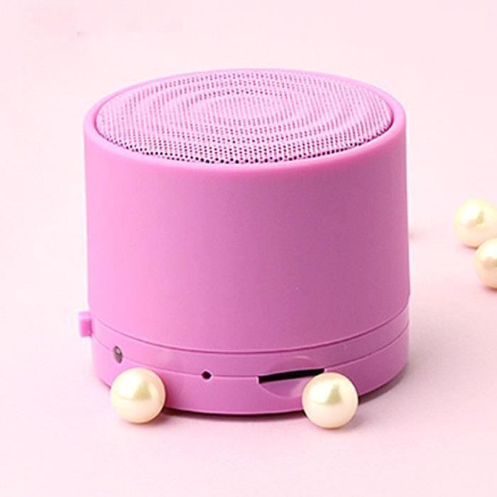 Mini Enceinte Portable Bluetooth Sans Fil Mains-libres Lecteur Carte Mp3 Pu