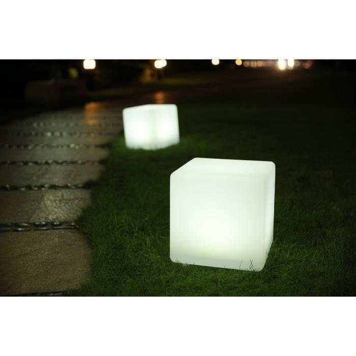 DÉCORATION LUMINEUSE LUMISKY Cube Led sans fil télécommandable 40 cm -